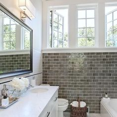 Color accent wall, with white subway tile on non-accent walls--does this work if the color wall is a shower at the opposite end of the bathroom?