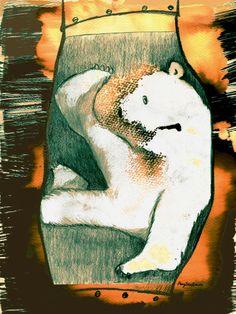 "Ilustración de Angélica López, de la habitación ""Indios a caballo"". http://indiosacaballo.blogspot.com.es/search/label/%C3%A1lbum%20ilustrado"