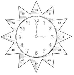 Teaching aid for learning to tell time (Free) Can be made in Japanese Teaching Time, Teaching Tools, Teaching Math, Math Classroom, Kindergarten Math, Classroom Clock, Math Resources, Math Activities, Learn To Tell Time