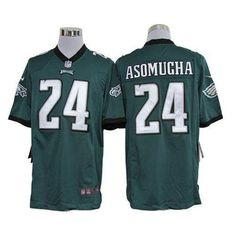 Nike Eagles Nnamdi Asomugha Green Team Color Mens NFL Game Jersey And Keanu  Neal jersey 04a47bec0