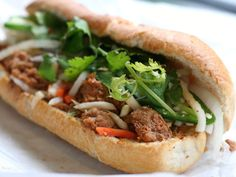 Next time you're craving the assurance of satisfaction that comes with a well-known classic from Ba Le but want something a little different, the Meatball Bánh Mì ($3.95) is a great place to start.