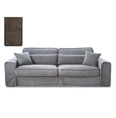 Metropolis Sofa 3,5 seater, washed cotton, brown - Sofas & Chairs   Rivièra Maison