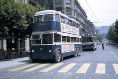 Former London trolleybus 1848 with La Compana del Tranvia de San Sebastian in… London Transport, Public Transport, Old Lorries, Buses And Trains, London Bus, Bilbao, Transportation, San, Portugal