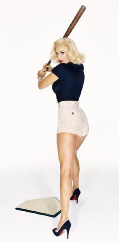 Gwen Stefani portraying Marilyn Monroe