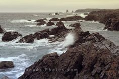 Picture of the beautiful ocean coastline of Notre Dame Bay near Twillingate, Newfoundland.