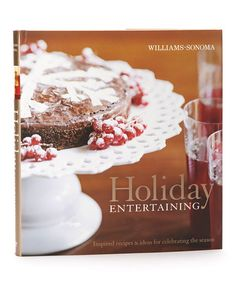 Take a look at this Holiday Entertaining Hardcover by Williams-Sonoma on #zulily today!