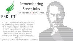 Eaglet Pays Tribute to Legendary, Visionary Steve Jobs.  We Miss You Steve. #Remembering #SteveJobs #Legendary #Visionary