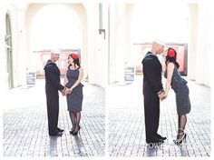 A Downtown San Diego Vintage Engagement - our patriotic engagement photos #Military