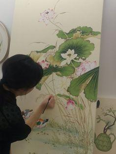 서은정 작가 소개 : 네이버 블로그 Lotus Painting, Watercolour Painting, Art And Illustration, Japanese Art Prints, Ink Pen Art, Photo Deco, Gold Leaf Art, Flower Canvas, Chinese Painting