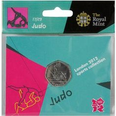 Price: $4.95 - Olympics The Royal Mint London 2012 Sports Collection Judo 50p Coin - TO ORDER, CLICK ON PHOTO