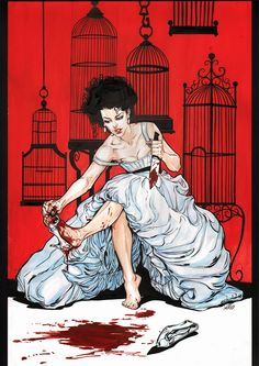 Cinderella by Joëlle Jones rockabilly vintage magazine art style gothic fairytale illustration for you anti valentine lovers out there Comic Book Artists, Comic Artist, Comic Books Art, Illustrations, Illustration Art, Grim Fairy Tales, Cinderella Art, Cinderella Grimm, Grimm Tales