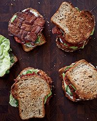 This amazing BLT has bacon in every bite thanks to the smart trick of weaving the strips into a lattice.