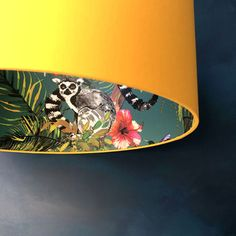 Buy Silhouette Cotton Lampshade - Teal Lemur in Egg Yolk from our Pendant Lights range at Red Candy, home of quirky decor. Teal Bedroom, Lampshades, Decor, Free Fabric Swatches, Teal, Wallpaper, Yellow Bedroom, Lamp Shade, Lamp Shades