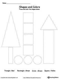 Encourage practicing shape recognition or teach your child about the different kinds of shapes with this tracing shape…