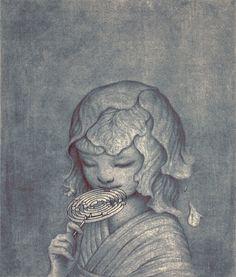 "Maze II (Memu) - James Jean, Graphite and Digital, 7 x 8"", 2013"