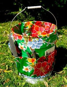 Oil Cloth Garden, or Craft tote