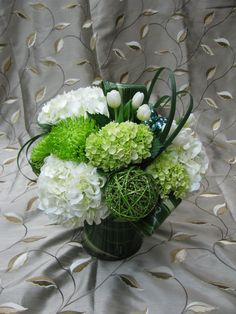 Bright greens and whites for a beautiful green feel!