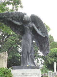 The Black Angel - Oakland Cemetary Iowa City, IA (photo-ksl)