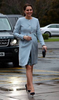 Catherine Duchess of Cambridge arrives at the Mother and Baby unit at the Bethlem Royal Hospital on January 24 2018 in London England