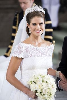 Princess Madeline marries New York banker Christopher O'Neill in Stockholm on 8 June 2013.