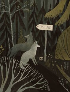 Lost Land Wolf Illustration by Alexandra Dvornikova