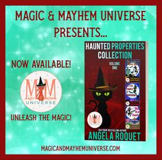 Woohoo!!! Angela Roquet's Haunted Properties Collection – Volume One is now Available! #MagicMayhemUniverse #ebook #pnr #UnleashTheMagic #newrelease Bestselling Author, My Books, Universe, Presents, Magic, Writing, Collection, Gifts, Cosmos