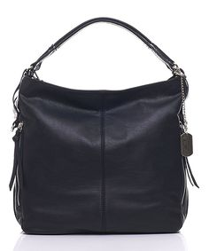3b94ecb1bae8 Look at this Black Leather Rectangle Hobo by Anna Morellini