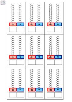 Fogli compensativi da stampare | AiutoDislessia.net Kindergarten Math Activities, Math 2, Math Place Value, Place Values, Teaching Tips, Teaching Math, Counting To 20, Math For Kids, Learning Disabilities