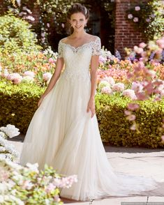 Verngo A-line Wedding Dress Lace Tulle Wedding Gowns V-neckline and Illusion Back Bride Dress Simple Wedding Dress 2019 Wedding Dresses Under 100, Wedding Dress Pictures, Perfect Wedding Dress, Bridal Dresses, Bridesmaid Dresses, Event Dresses, Sottero And Midgley Wedding Dresses, Tulle Wedding Gown, Backless Wedding