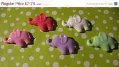 SuMmEr SaLe 5 Cute Pastel Elephant cabochon Flatbacks Decodon Kawaii