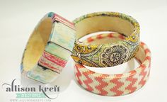 Pretty Bracelet project from Allison Kreft, using Craft Attitude!
