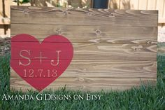 Personalized Wedding Guest Book with WrapAround by AmandaGdesigns, $85.00  this is the exact one I want (font and color) @Kim Rothfus