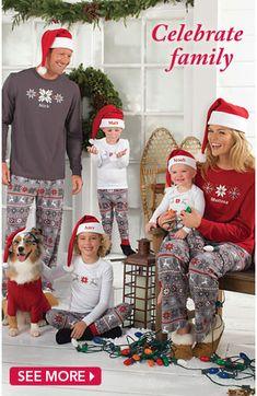 Matching Family Pajamas - great idea for holiday vacation