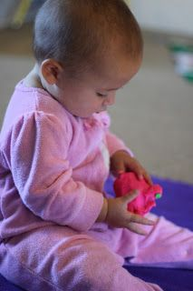 Infant Play with Play Dough