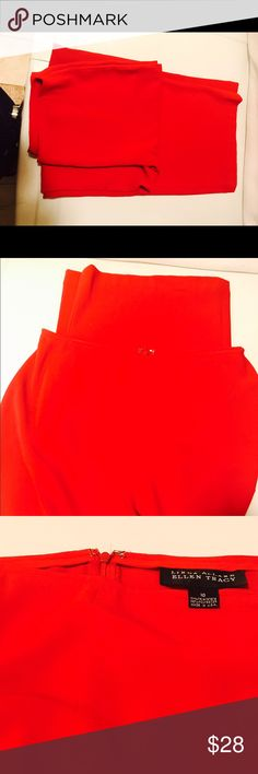 Ellen Tracy red pants Stunning pants Awesome color and stylish. Very comfy . Great conditions worn once . Wrinkle free fabric  . Chic and fancy. Ellen Tracy Pants