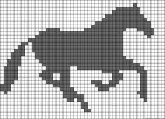 Horse perler bead pattern, I want to do it in tapestry crochet Bead Loom Patterns, Perler Patterns, Beading Patterns, Cross Stitch Patterns, Cross Stitch Horse, Cross Stitch Animals, Knitting Charts, Knitting Patterns, Crochet Patterns