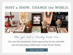 Have you hosted a Noonday Trunk Show yet? Host a Show. Change the World.