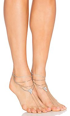 Samantha Wills Fields of Gold Anklet Pair in Silver