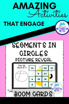 Are you looking for an interactive and self-correcting resource to practice finding the measure of segments in circles with your students? There are 2 different pictures with 16 problems for each picture. Students start with the picture totally covered by the answer boxes. As they answer each question correctly, more and more of the covered picture is revealed.