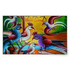 Sticker birds RickshawArt.org