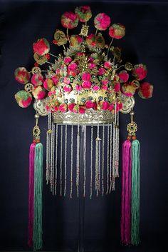 Chinese wedding tiara Early 20th c