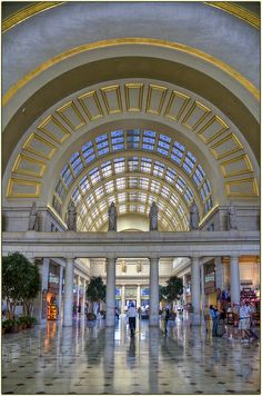 UNION STATION, Washington, DC. Who would of thought a train station could be so beautiful. Truly a destination in and of itself! Take the train into town and then the metro. You're so much better off without a car in DC!