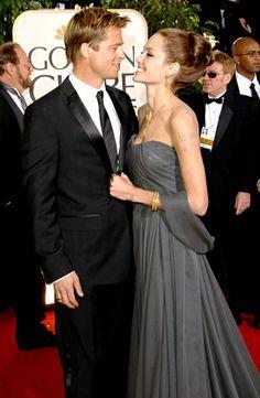 Brad Pitt and Angelina Jolie. Jan. 2007