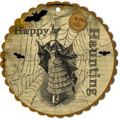 Adele Lark Vintage Design: Free Halloween Hang Tag!