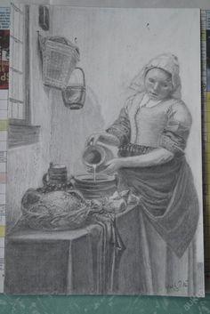 kresba dle Vermeera
