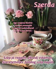 Good Morning, Planter Pots, Mugs, Tableware, Pink, Buen Dia, Dinnerware, Bonjour, Tumblers