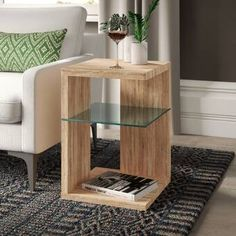 Canora Grey Side Table with Storage & Reviews   Wayfair.co.uk Grey Side Table, Cube Side Table, Side Table With Storage, Sofa Side Table, Metal Side Table, Modern Side Table, Round Side Table, Unique Coffee Table, Coffe Table