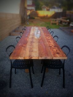 plus a long day of sanding and building = a fantastic farm style table with seating for 12