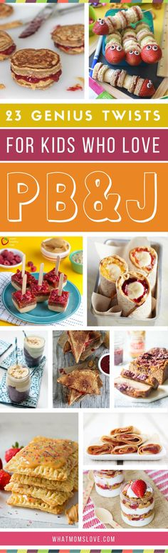 Peanut Butter Jelly Recipes for Kids - twists on the classic sandwich | Creative PBJ variations for breakfast, lunch, snack or a treat | Easy ideas for picky eaters - make food fun!