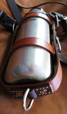 Klean Kanteen Leather Bottle Holder/Carrier Canteen by MuleLeather